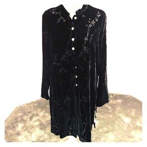 Long Velvet tunic top